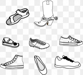 Outline Of Shoe - Shoe Sneakers Clip Art PNG