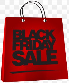 Red Bag Black Friday Sale Image Clipart - Black Friday Bag Christmas Decoration Clip Art PNG