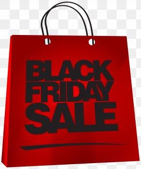 Red Bag Black Friday Sale Image Clipart - Black Friday Bag Christmas Decoration Clip Art PNG