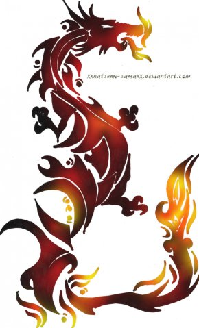 Fire Dragon Pictures - Tattoo Dragon Fire Clip Art PNG