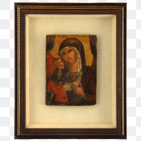 Painting - Painting Russian Icons Picture Frames Madonna Icon PNG