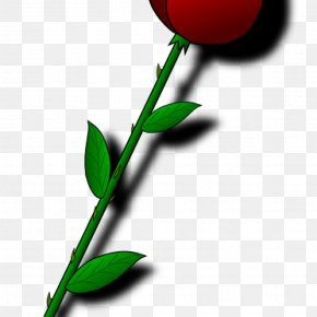 Single Red Rose Clip Art - Clip Art Openclipart Free Content Image PNG