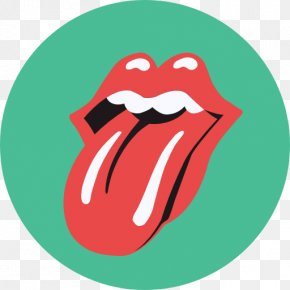 Tongue - The Rolling Stones Logo Tongue Graphic Design PNG