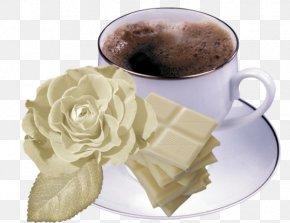 White Chocolate White Rose Mug - Coffee Tea White Chocolate Cafe PNG
