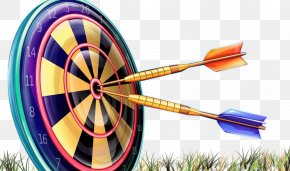 The Darts Hit The Target On The Grass - DARTSLIVE Display Resolution Wallpaper PNG