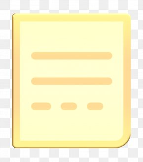 Rectangle Yellow - Document Icon General Icon Letter Icon PNG