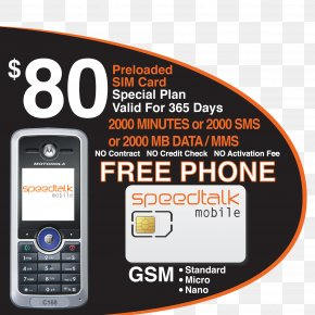 Prepaid Calling Cards - Feature Phone Motorola C168i Prepay Mobile Phone Text Messaging Subscriber Identity Module PNG