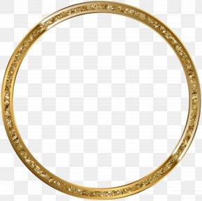 Round Border Frame Gold Transparent Clip Art - Picture Frame Clip Art PNG