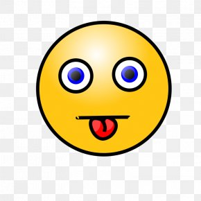 Happy Face Tongue Sticking Out - Smiley Tongue Emoticon Clip Art PNG