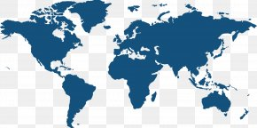 Vector PPT Creative Design World Map Icon - United States India World Map Globe PNG