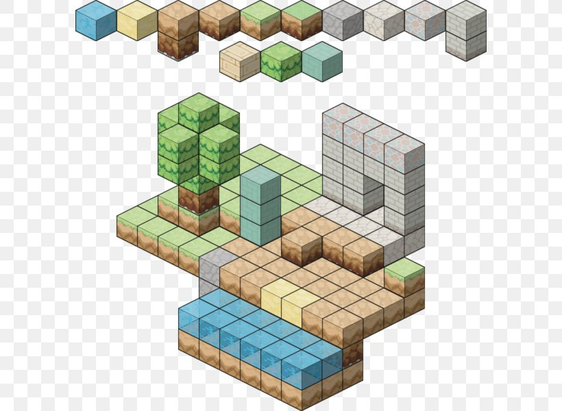 Tile Based Video Game Minecraft Isometric Graphics In Video