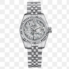 Rolex Watches Female Form Diamond Silver - Rolex Datejust Rolex Daytona Watch Diamond PNG