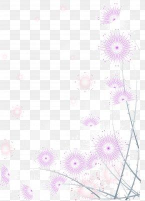 Purple Dandelion - Textile Petal Pink Pattern PNG
