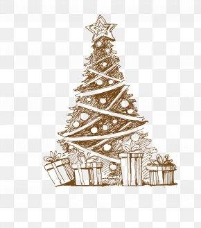 Vector Christmas - Christmas Tree Santa Claus Coat Rack Christmas Ornament PNG
