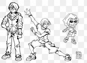Study Characters - Line Art Human Behavior Cartoon Sketch PNG