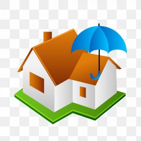 House Model And Umbrellas - House Painter And Decorator Architecture Icon PNG