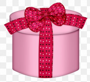 Pink Heart Round Gift Box Clipart - Gift Box Pink Clip Art PNG
