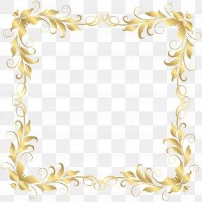 Floral Border Frame Clip Art Image - Picture Frame Clip Art PNG