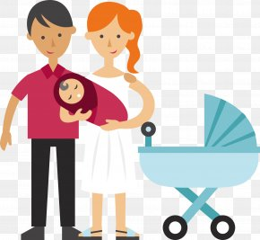 Couple Holding A Baby - Infant Mother Father Child Toddler PNG