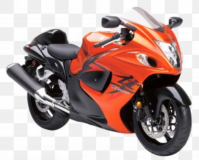Suzuki Hayabusa Sport Motorcycle Bike - Suzuki Hayabusa Motorcycle Orange Mountain Bikes Sport Bike PNG