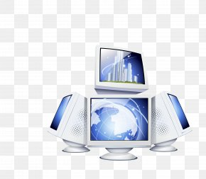 Vector Blue Creative Computer Black Technology - Computer Graphics Icon PNG