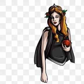 Retro Apples Woman - Hades Sticker Greek Mythology Poseidon Illustration PNG