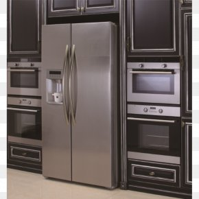 Home Appliance - Home Appliance Kitchen Cabinet Refrigerator Microwave Ovens PNG