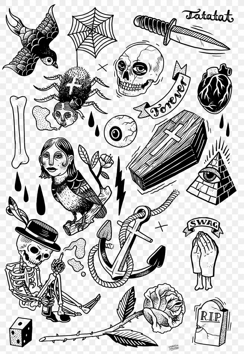 Tattoo Artist Flash Black And Gray Drawing Png 1709x2480px Watercolor Cartoon Flower Frame Heart Download Free