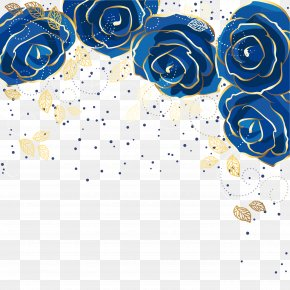 Blue Rose Background Vector - Blue Rose Flower PNG