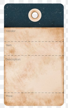 Tags - Label Paper Antique Price PNG