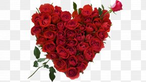 8 - Rose Flower Bouquet Heart Valentine's Day PNG