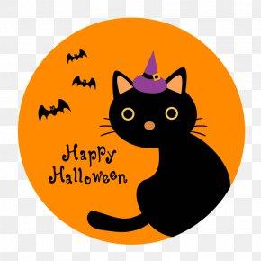 Halloween - Black Cat Whiskers Halloween Clip Art PNG