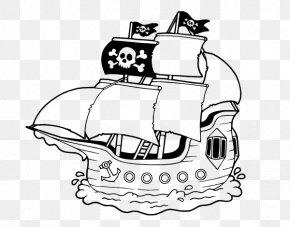 Ship - Coloring Book Ship Piracy Sea Captain Child PNG
