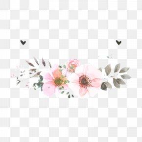 Wildflower Floral Design - Pink Flower Cartoon PNG