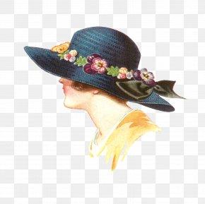 Spring Illustration - Fashion Illustration Hat Vintage Clothing PNG