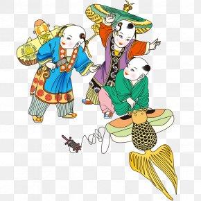 Ancient Kite Child - Child Kite Cartoon PNG