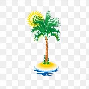 Creative Summer Coconut Tree - Euclidean Vector Coconut Tree Arecaceae PNG