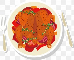 Roast Chicken Vector - Roast Chicken Barbecue Chicken Drawing PNG