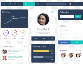 UI Interface Window Flat - User Interface Design Template PNG