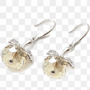 Apple Leaves Earrings Jewelry - Earring Jewellery PNG