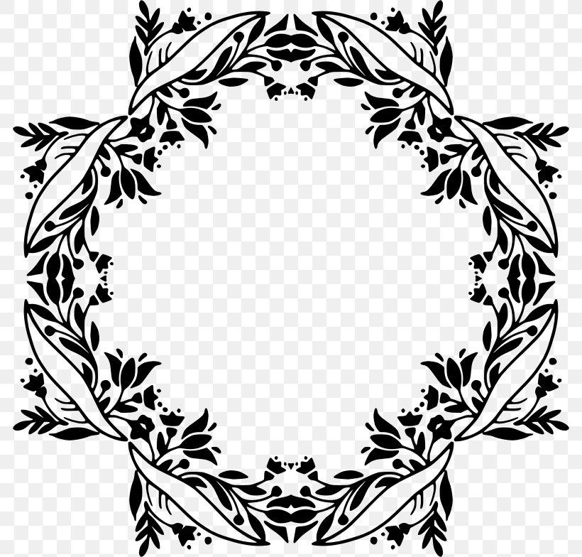 Floral Design Icon Design Clip Art, PNG, 784x784px, Floral Design, Artwork, Black And White, Branch, Flora Download Free
