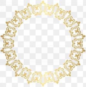 Round Border Frame Transparent ClipArt Image - Arabesque Picture Frame Ornament Illustration PNG