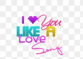 You - Text Love You Like A Love Song Graphic Design Animation PNG
