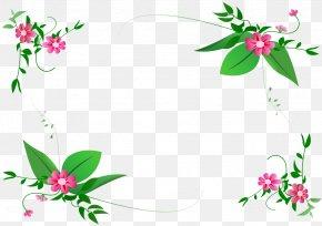 Flower Border - Flower Floral Design Clip Art PNG
