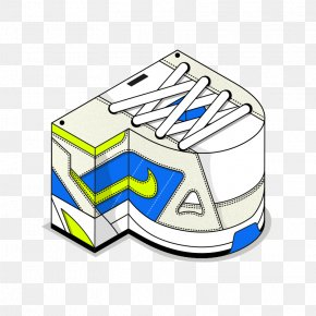 Art Sneakers Letter P - English Alphabet Letter Sneakers Shoe PNG