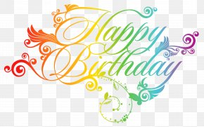 Colorful Happy Birthday Clipart Picture - Birthday Greeting Card Clip Art PNG