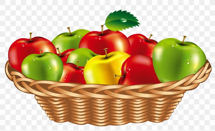 Fruit Gift Basket Clip Art, PNG, 6160x3776px, Fruit, Apple, Basket, Bell Pepper, Bell Peppers And Chili Peppers Download Free