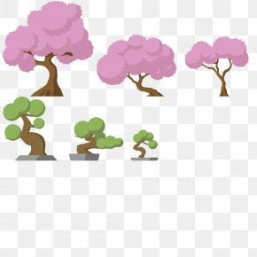 Sakura Tree - Tree Cherry Blossom Plant Game 2D Computer Graphics PNG