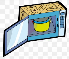 Open The Microwave Oven - Microwave Oven Kitchen Clip Art PNG