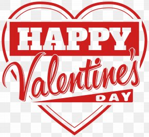 Happy Valentine's Day Heart Transparent PNG Clip Art Image - Valentine's Day Clip Art PNG